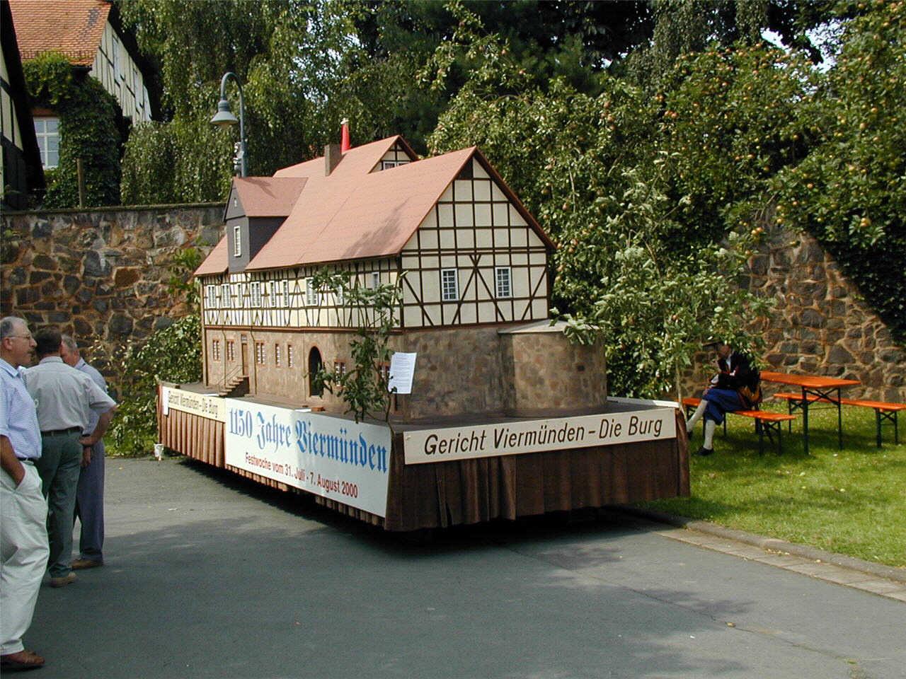 Modell der Viermündener Burg. (© Detlef Battefeld)
