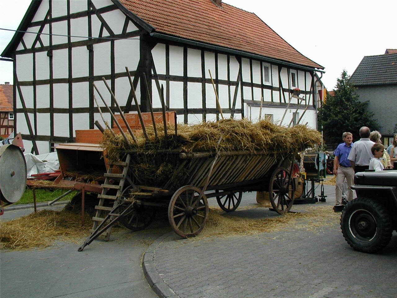Alter Leiterwagen.