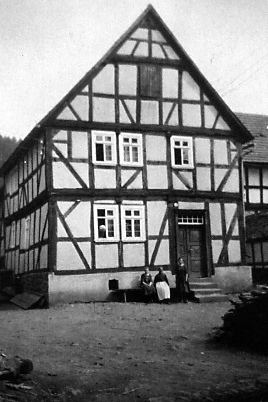 """""""Gallen"""" Haus, abgerissen. (© Stadt Frankenberg Eder)"""