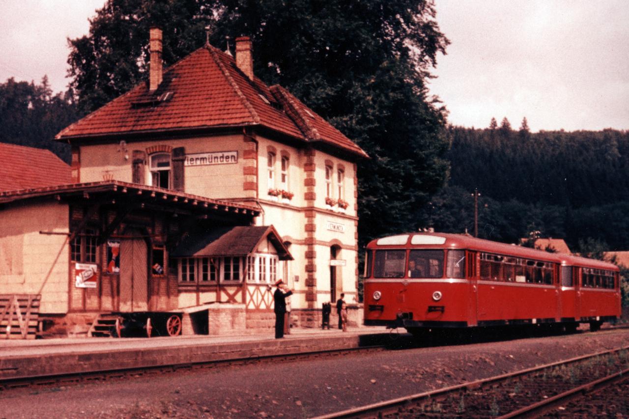 Blick auf den Bahnhof 1955. (© Karl-Hermann Völker)