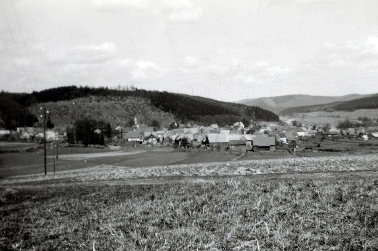 Blick von der Schreufschen Höhe in Richtung Viermünden, eventuell frühe 50er. (© Stadt Frankenberg Eder)