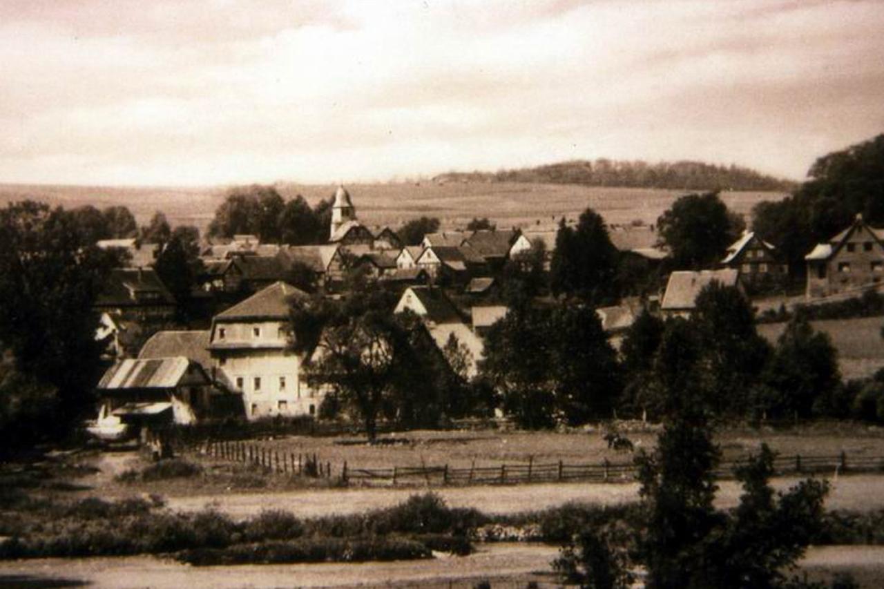 Blick zur Mühle von der Ederstraße, Aufnahme um 1955. (© Stadt Frankenberg Eder)