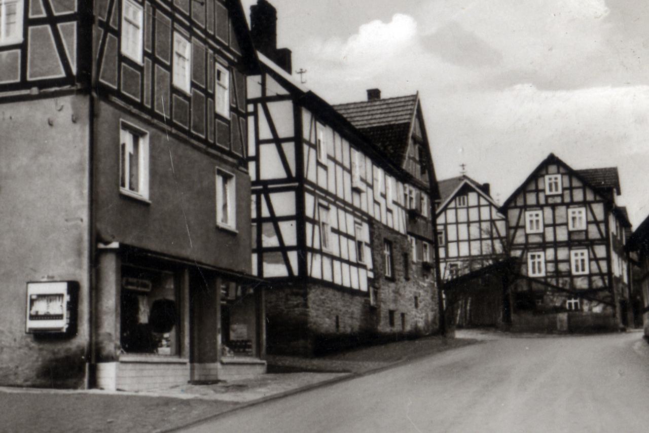 Blick in Richtung Hamels Haus, Anfang 60er. (© Ansichtskarte Dortmund: Cramers Kunstanstalt)
