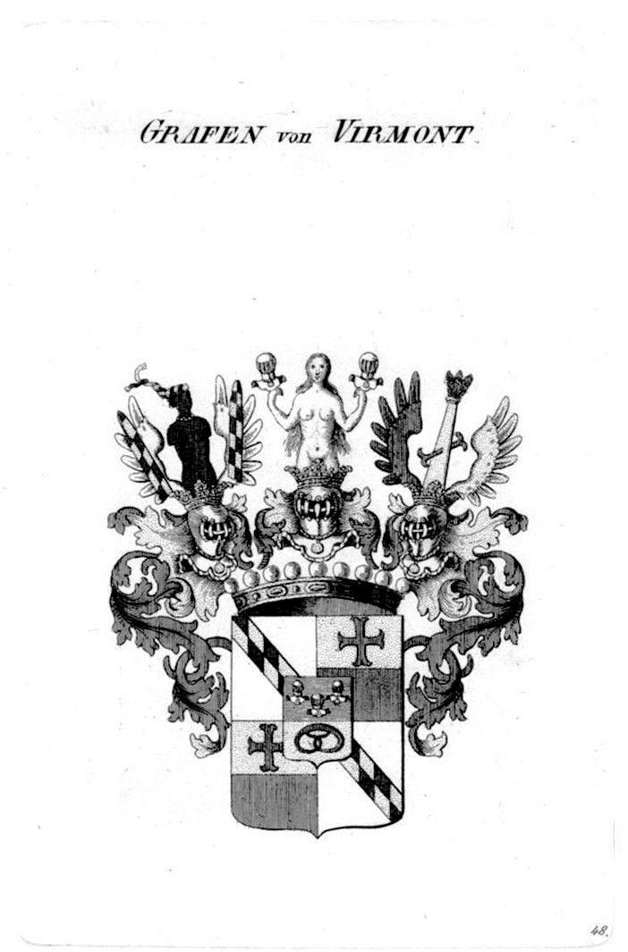 HERALDIK - Grafen von Virmont Kupferstich, 1820. (© Mike Schwarz)