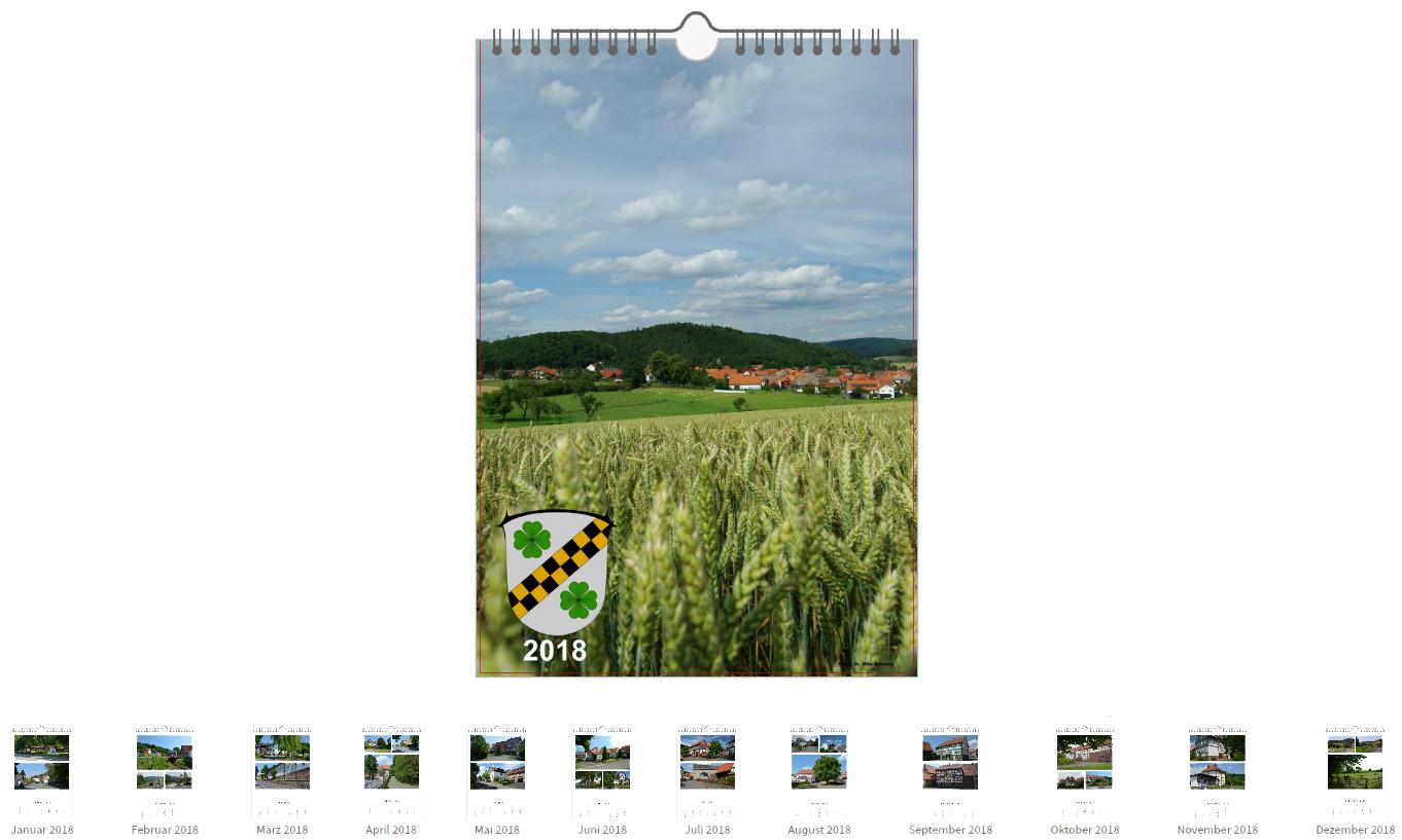 Kalender 2018 mit aktuellen Aufnahmen von Viermünden
